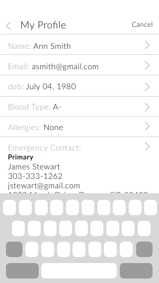 Copy of Edit profile