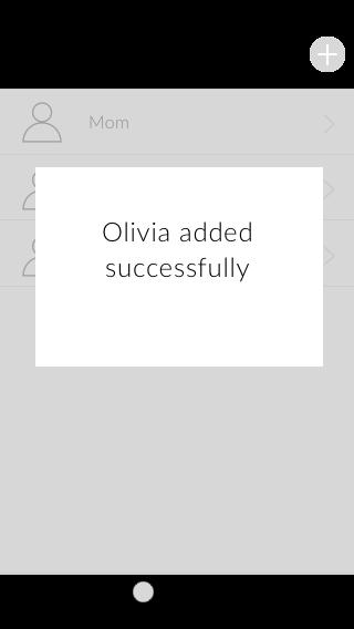 Copy of Add a user successful