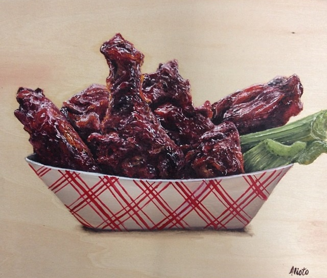 Spicy Wings. Oil on wooden panel. 8x10.jpg
