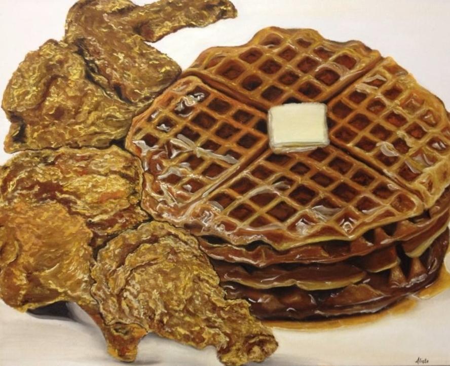 chicken n' waffles. Oil on canvas. 16x20..jpg