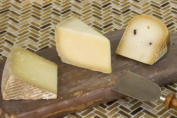 (left to right) Oveja Negra Manchego ($30/lb); Pecorino di Filiano ($20/lb); Bellwether Farms Pepato ($40/lb)