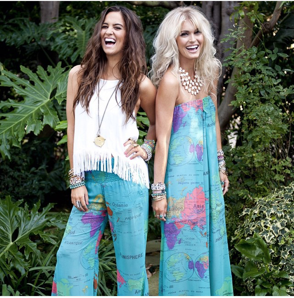 Cammy Hebert (left) and  Cologne Schmidt (right) are the two entrepreneurs behind the Hawaii inspired clothing company, Show Me Your MuMu. Photography c/o Show Me Your Mumu