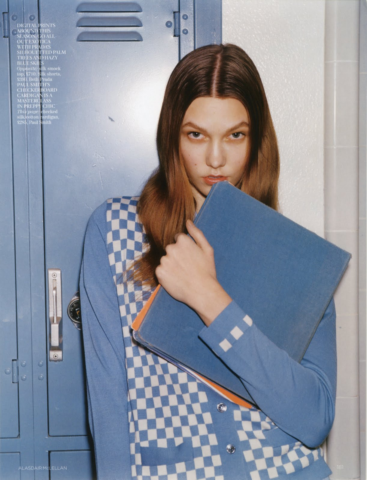 Karlie Kloss for British Vogue. Image  via