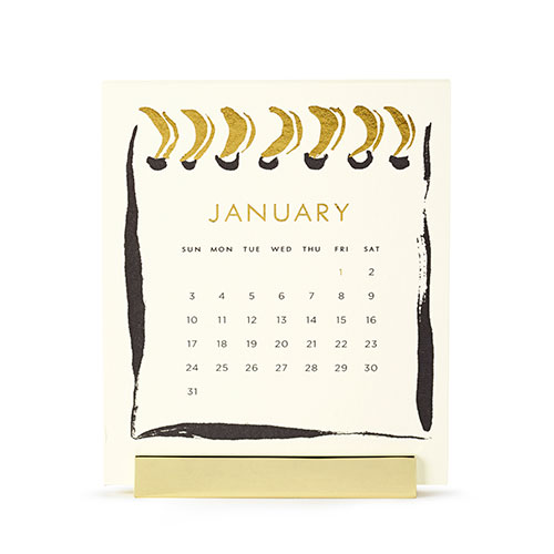 Kate Spade New York Desktop Calendar  via