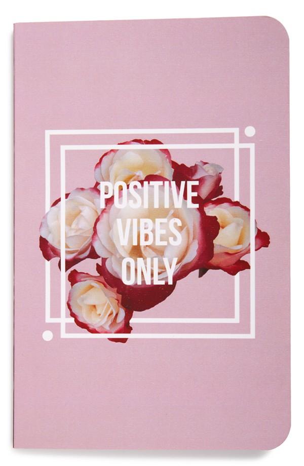Denik Positive Vibes Only Notebook  via