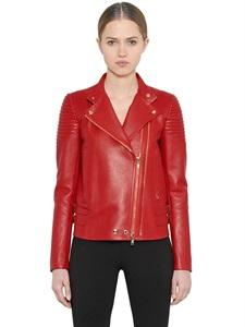Nappa Leather Moto Jacket  via