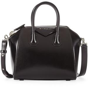 Antigona Mini Leather Satchel Bag  via