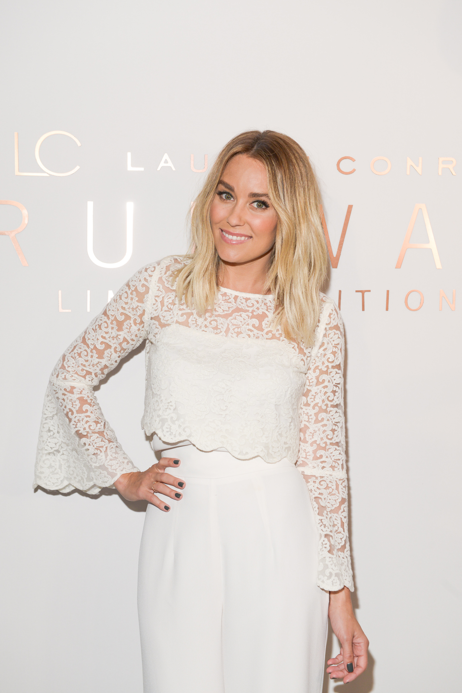 Fashion designer and author Lauren Conrad at her first-ever New York Fashion Week show.