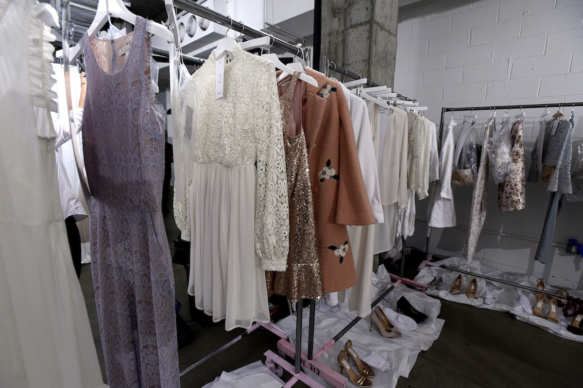 Backstage at LC Lauren Conrad Runway Collection for Kohl's NYFW Show. Photo by  Jennifer Graylock