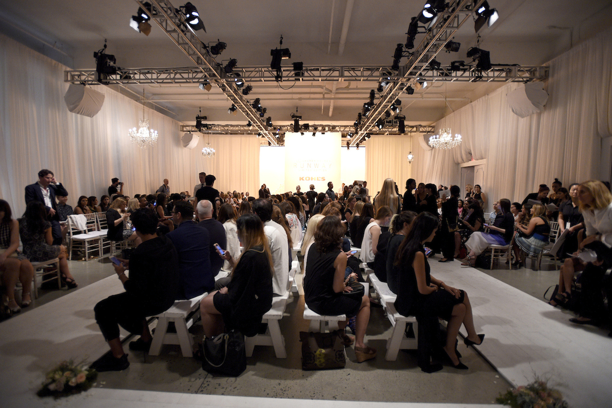 Crowd at the LC Lauren Conrad Runway Collection for Kohl's NYFW Show. Photography by  Jennifer Graylock.