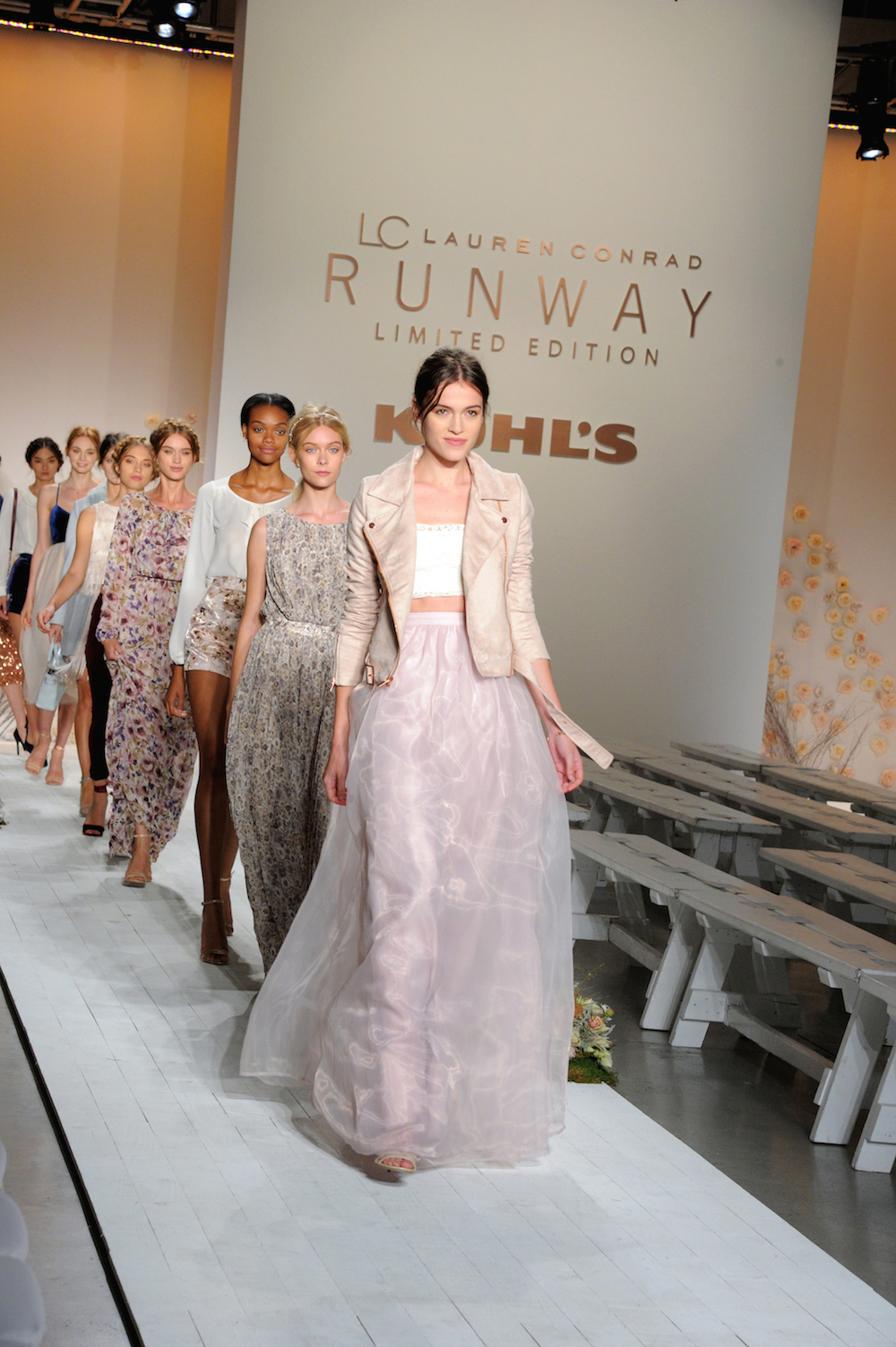 Final Run at the LC Lauren Conrad Runway Collection for Kohl's NYFW Show. Photography by  Jennifer Graylock.