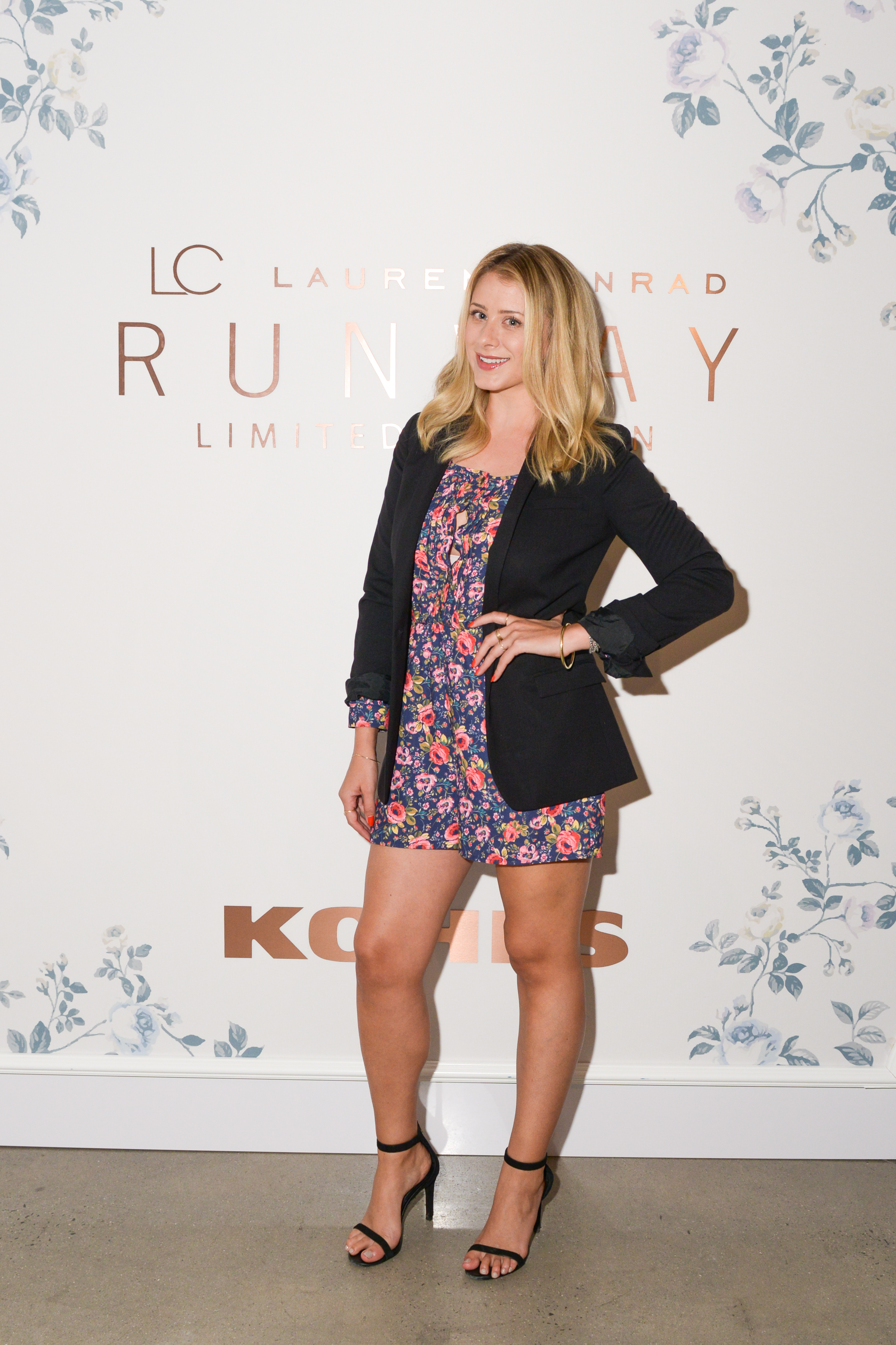 Lo Bosworth at the LC Lauren Conrad Runway Collection for Kohl's NYFW Show. Photography by  Jennifer Graylock.