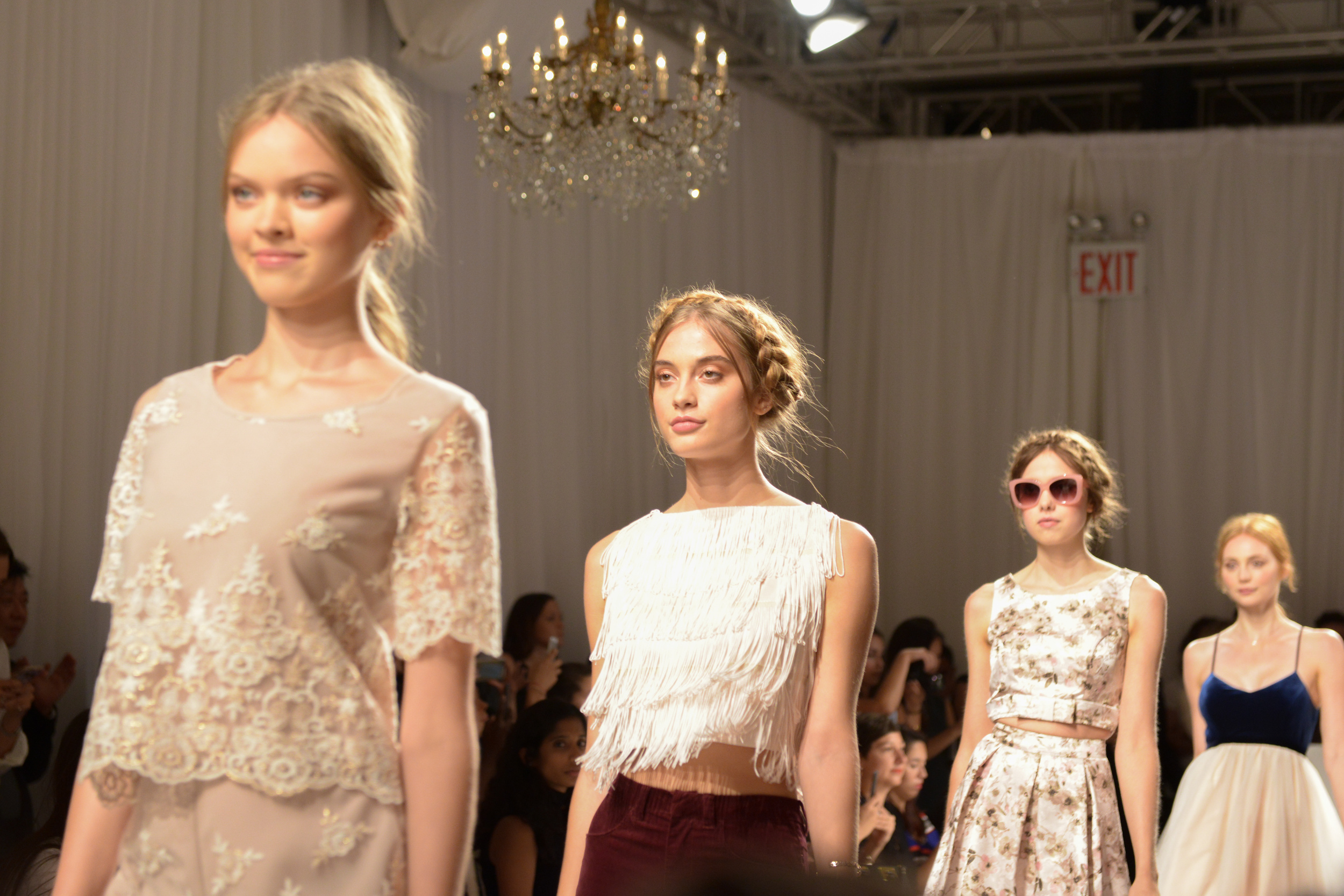 LC Lauren Conrad Runway Collection for Kohl's NYFW Show Finale. Photography by Zach Hyman of Billy Farrell Agency.