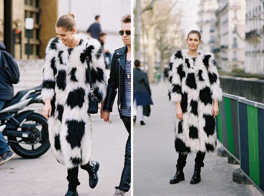 Danish model Nadja Bender, after Isabel Marant, Paris, March 2015.