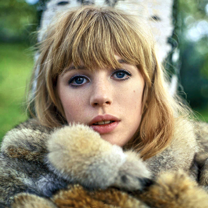 Marianne Faithfull, the English rock singer, songwriter and Mick Jagger's former girlfriend.