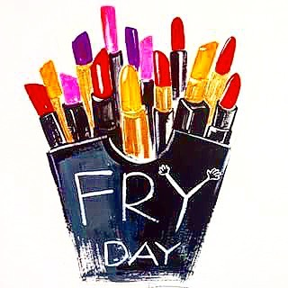Because the weekend means you can splurge on your diet while wearing hot pink lipstick. Happy #FRYday!