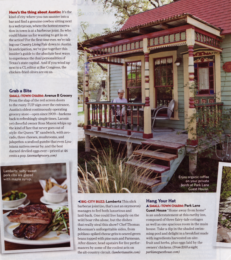 The Park Lane in Country Living Magazine, April 2012