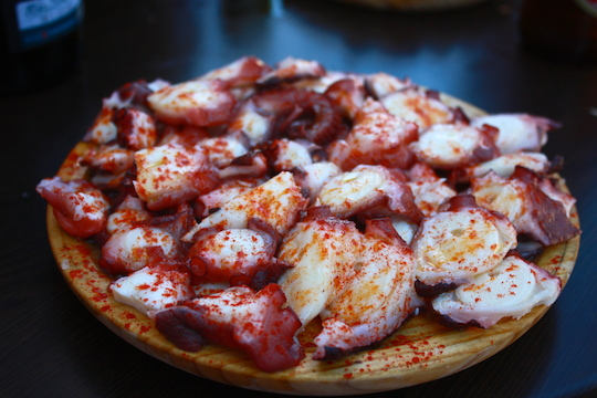Galician Pulpo via  SPANISH SABORES