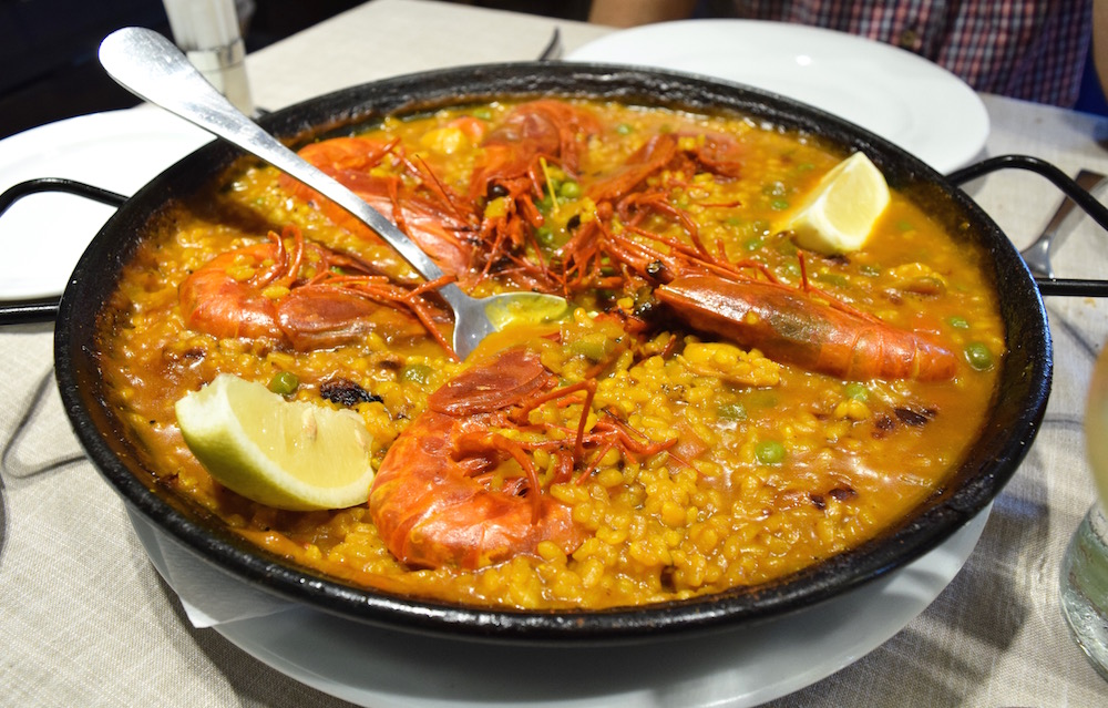 Galician Seafood Paella via Spanish Sabores