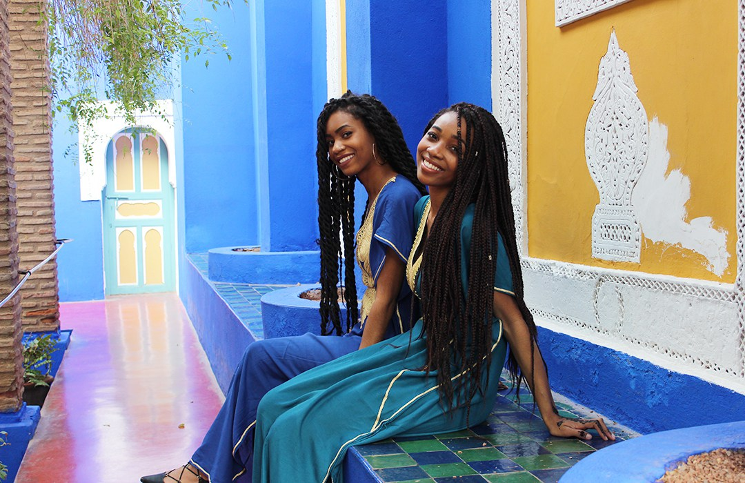 My sister and I in Marrakech, Morocco