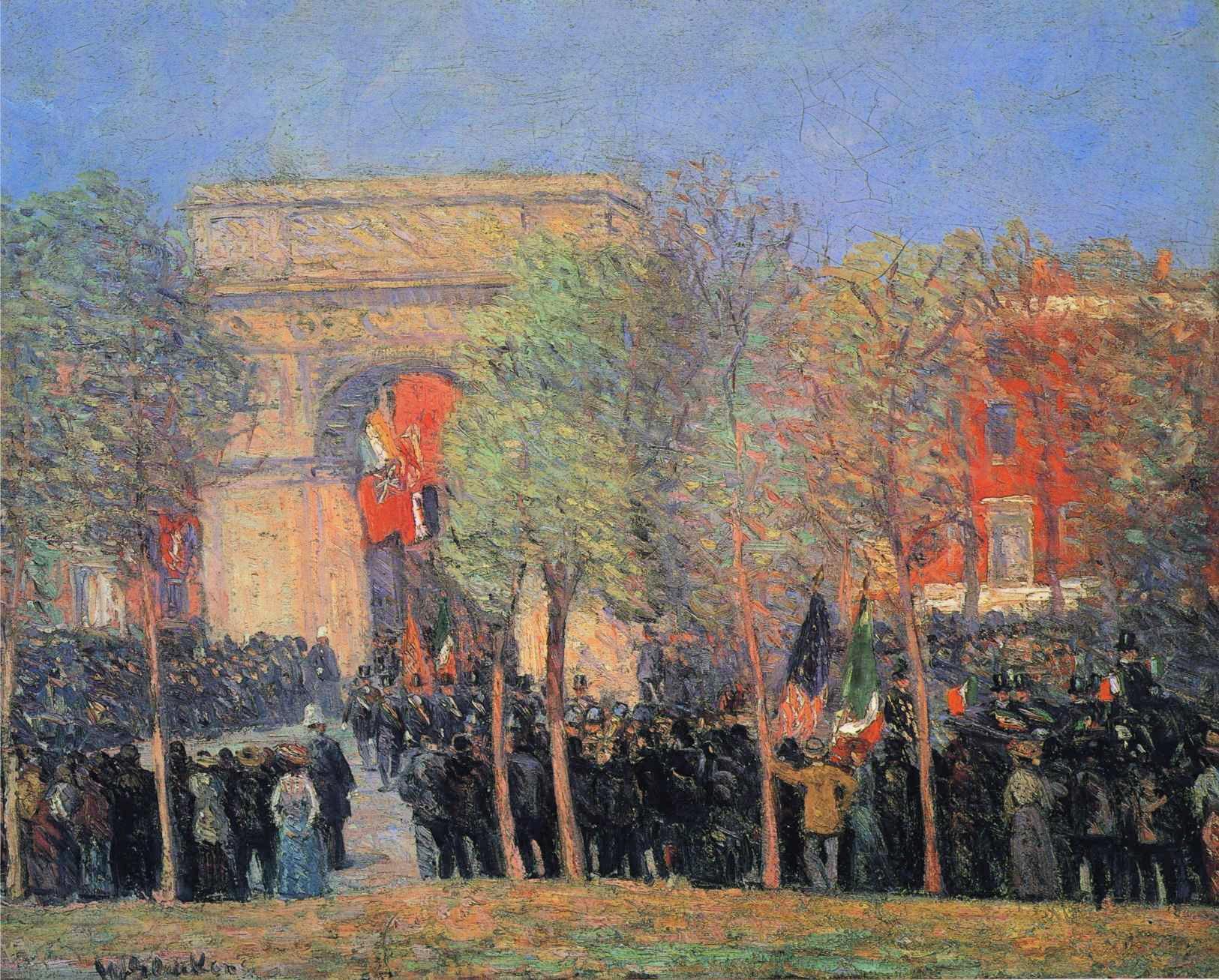 Italo-American Celebration, Washington Square 1912