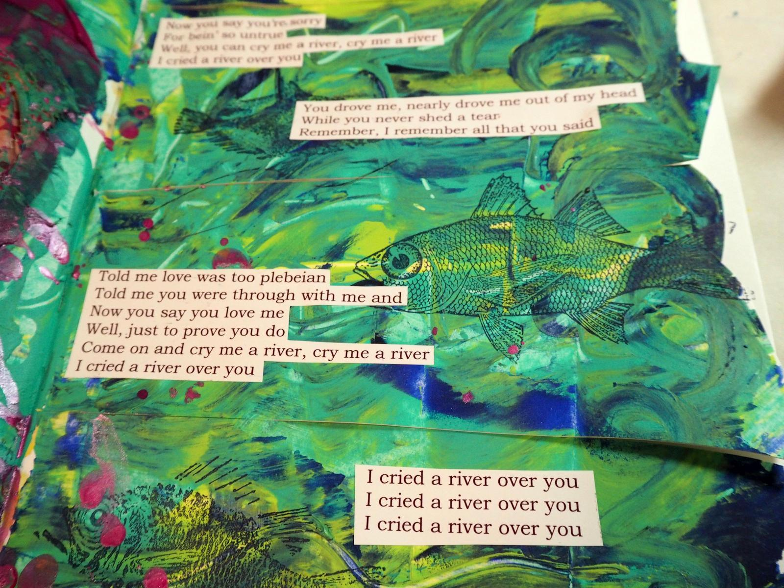 "I FOUND THE LYRICS TO THE SONG ""CRY ME A RIVER"" AND PRINTED THEM OUT"