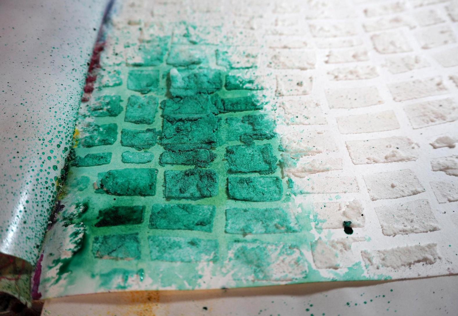 Testing a spray dye - Adirondack in Bottle Green
