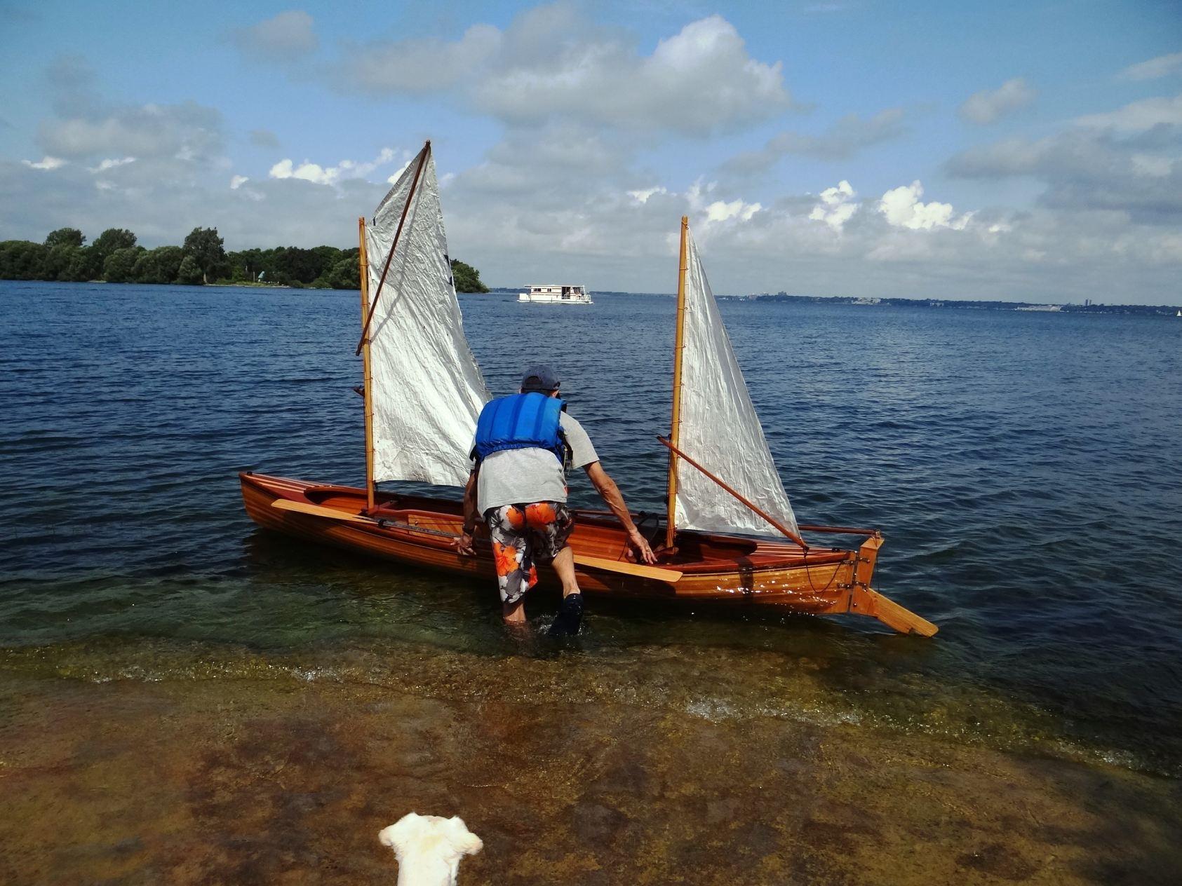 2012: Steve's sailing canoe