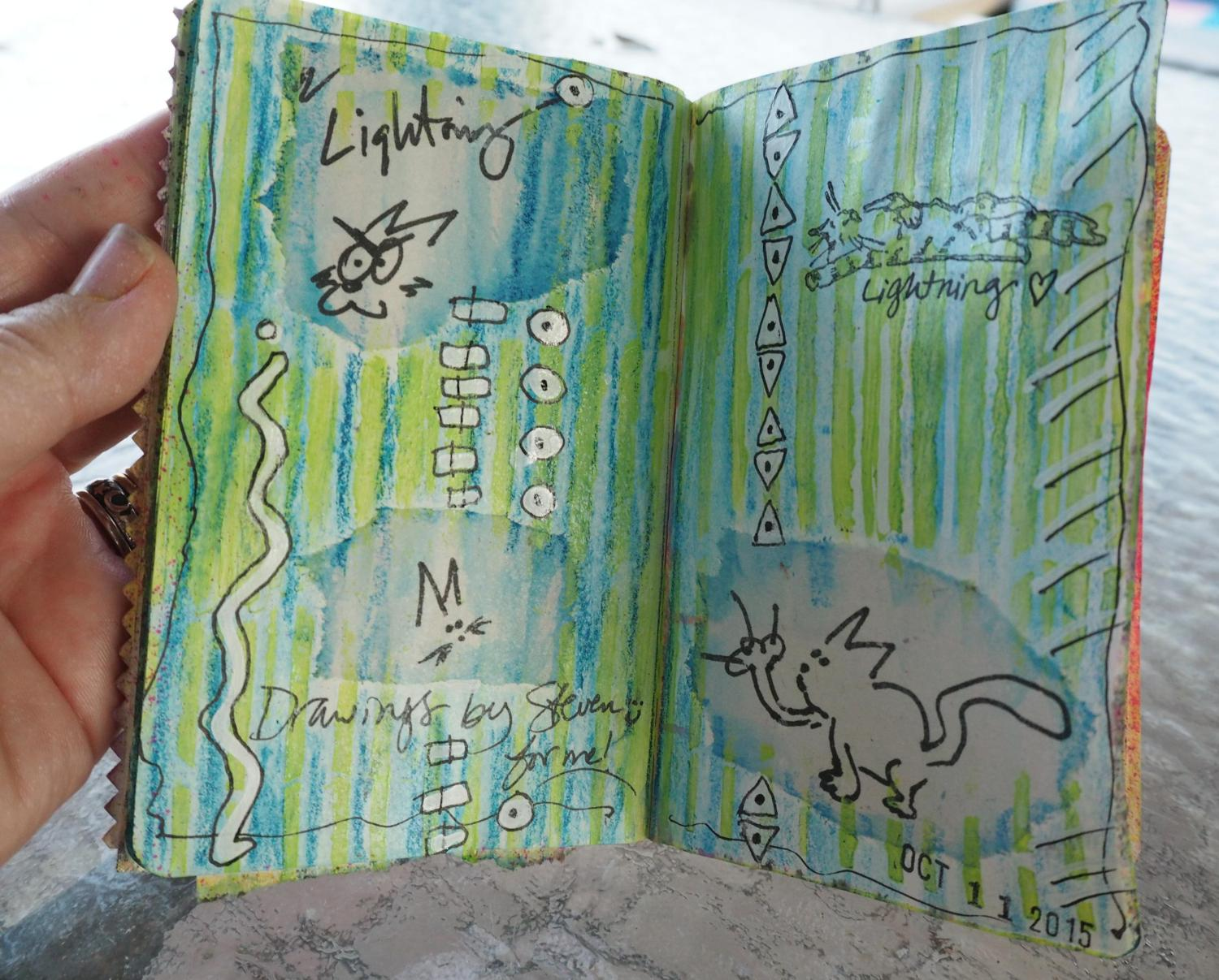 Steve's drawings now live in my journal