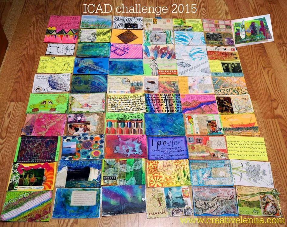 Above: All of my 2015 ICADs!