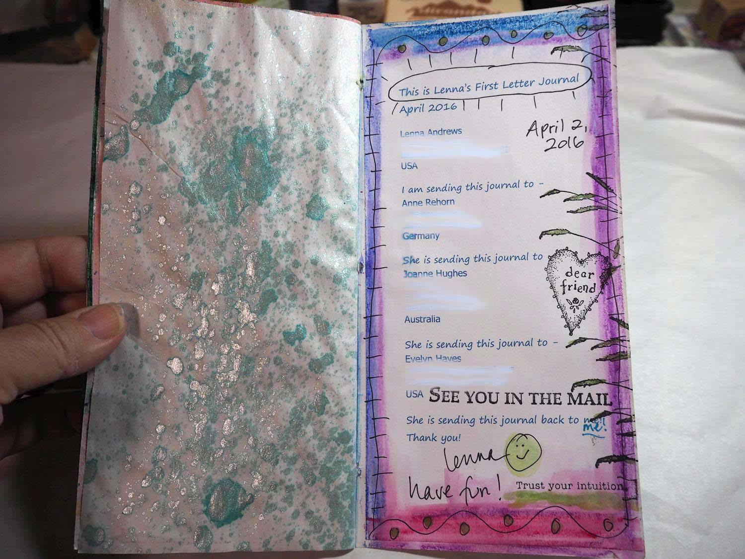 My First Letter Journal: April 2nd, 2016