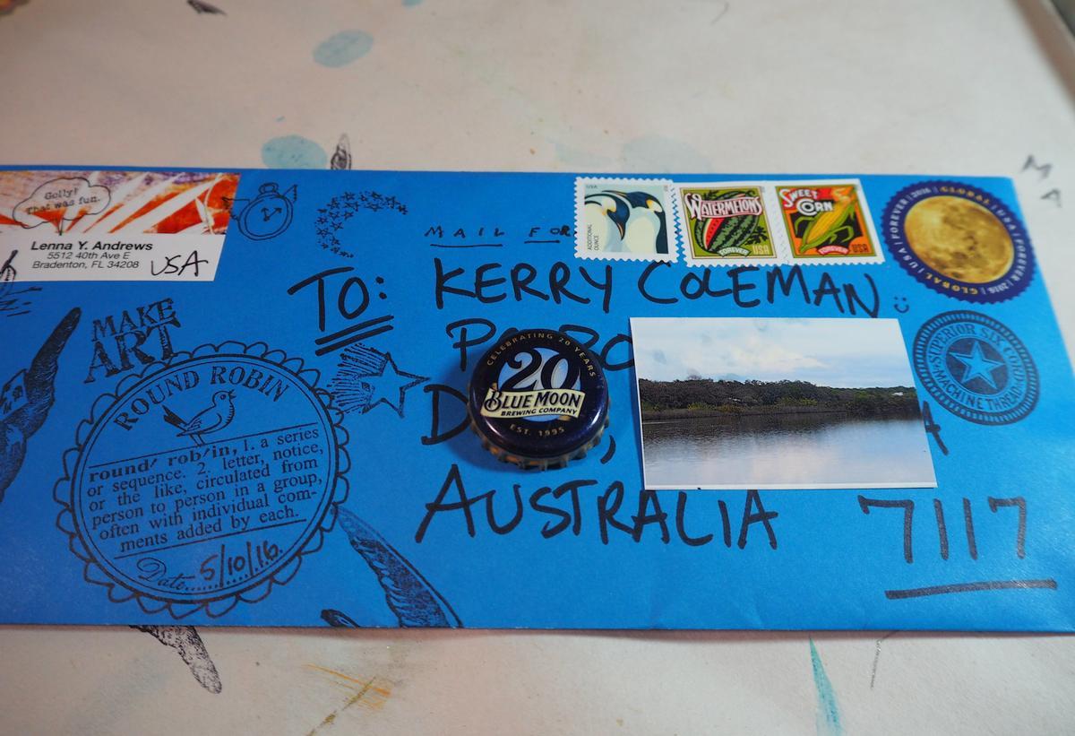 mailed to Australia 5.10.16