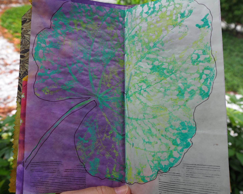 A real leaf print