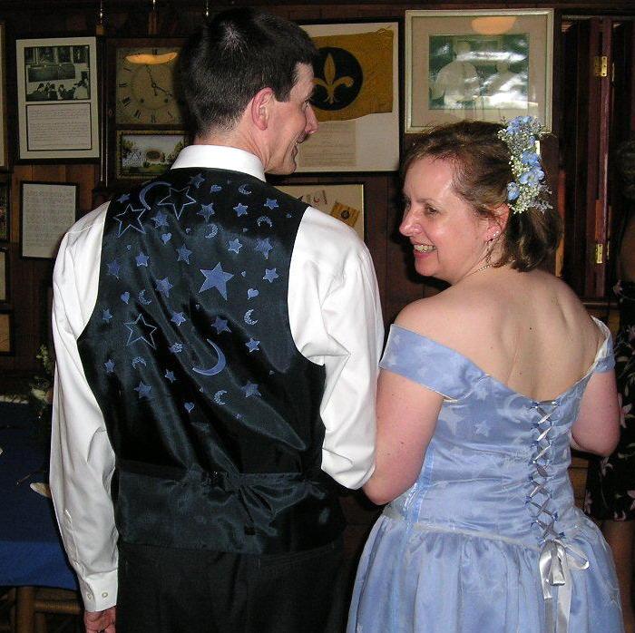 Hand stamped wedding attire
