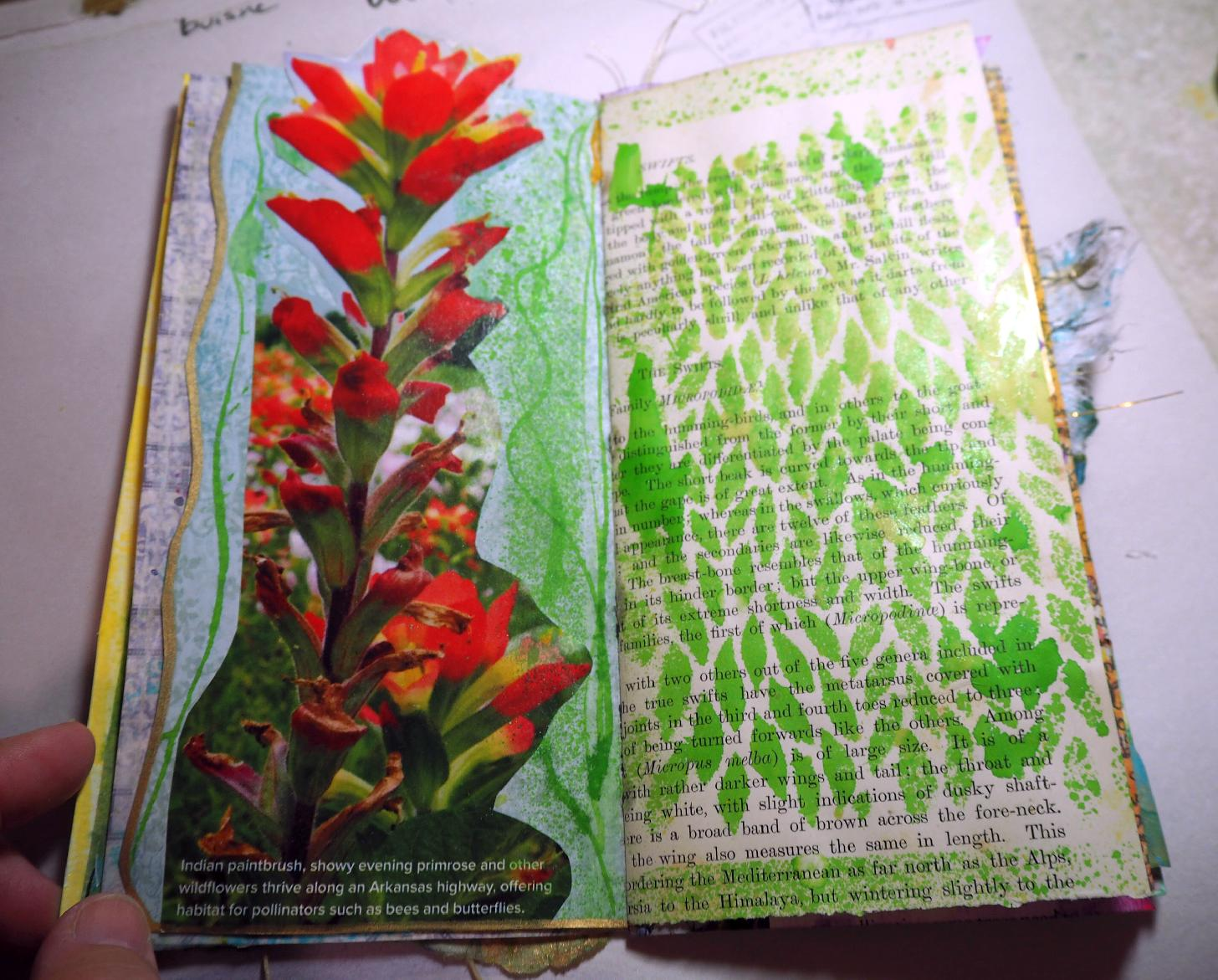 stenciling/collage: lenna