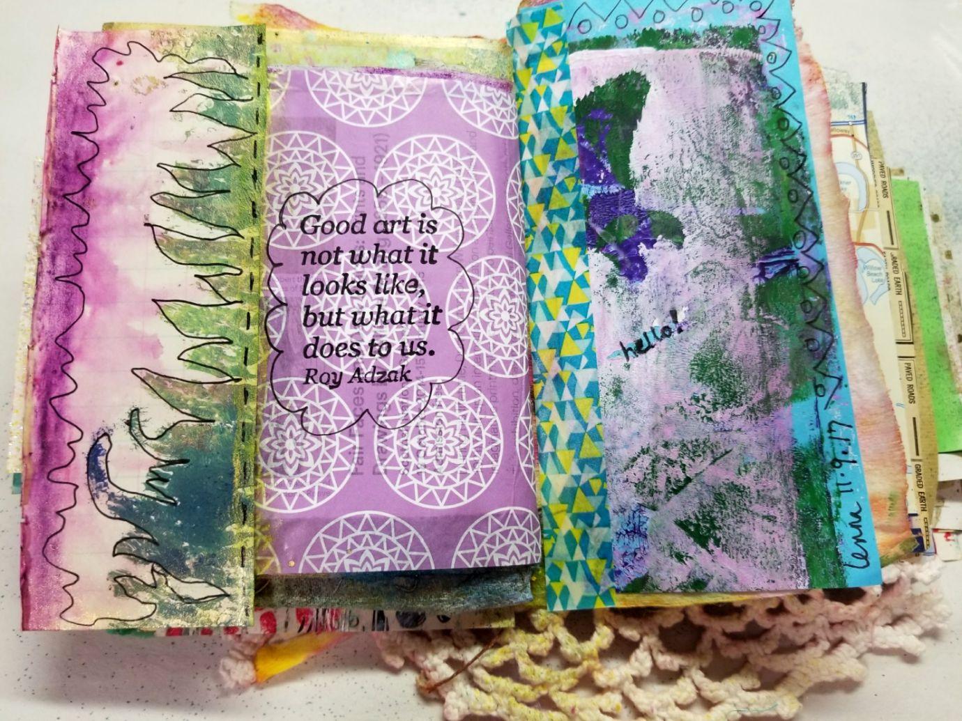 scraps of nature prints & a tissue paper