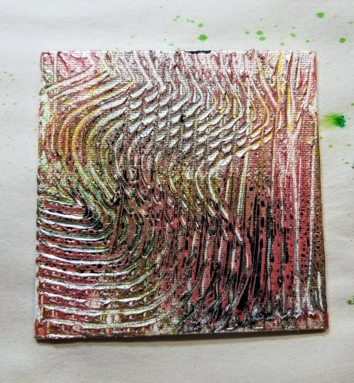 12. Acrylic paint w/ comb