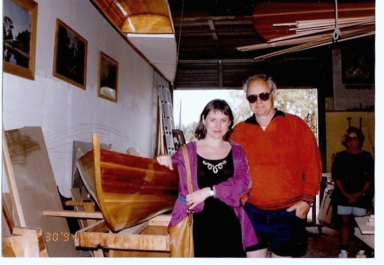 Me & Dad in Mac McCarthy's Boat Shop - Sarasota Florida 1994