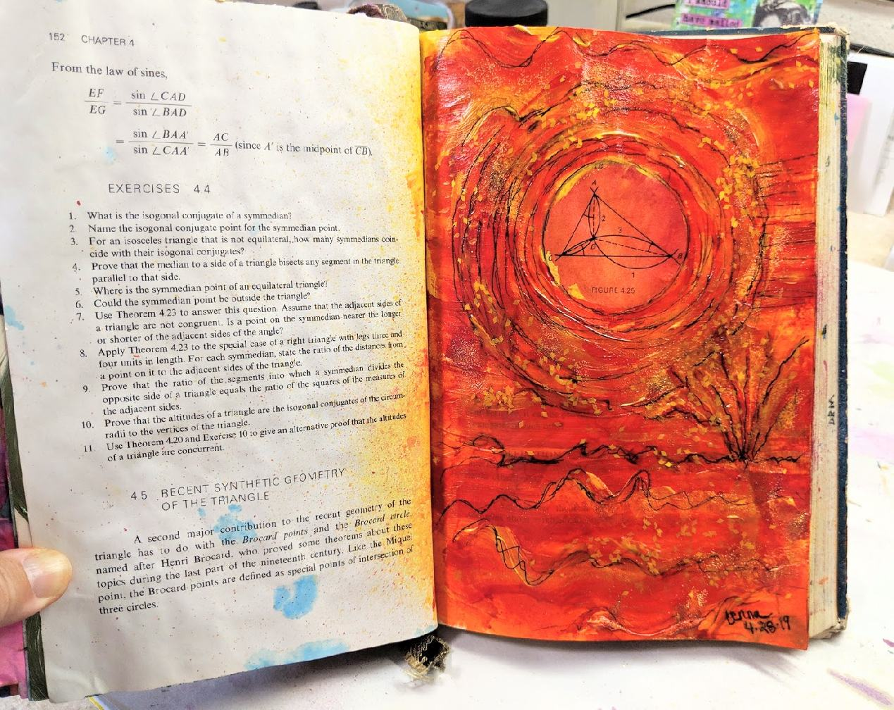 118: Altered Book page