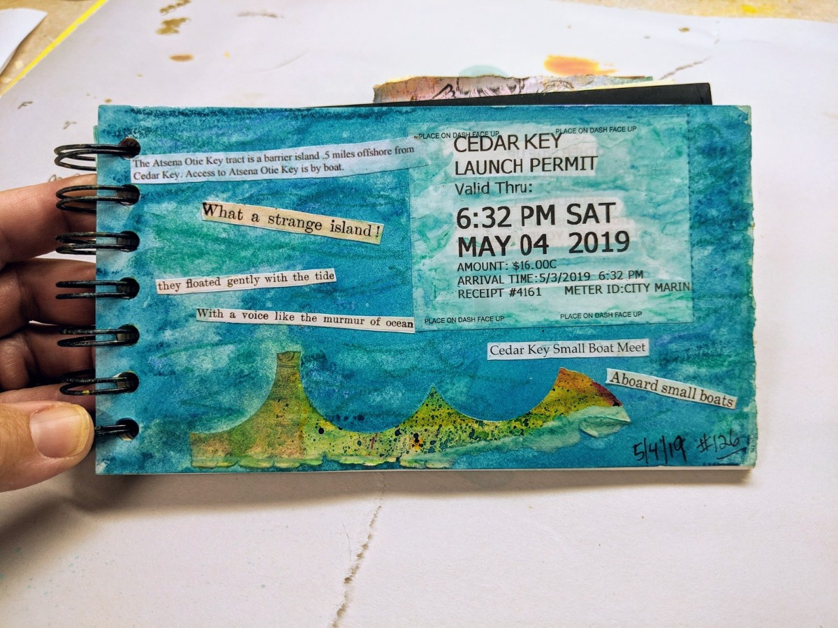 126: art journal page