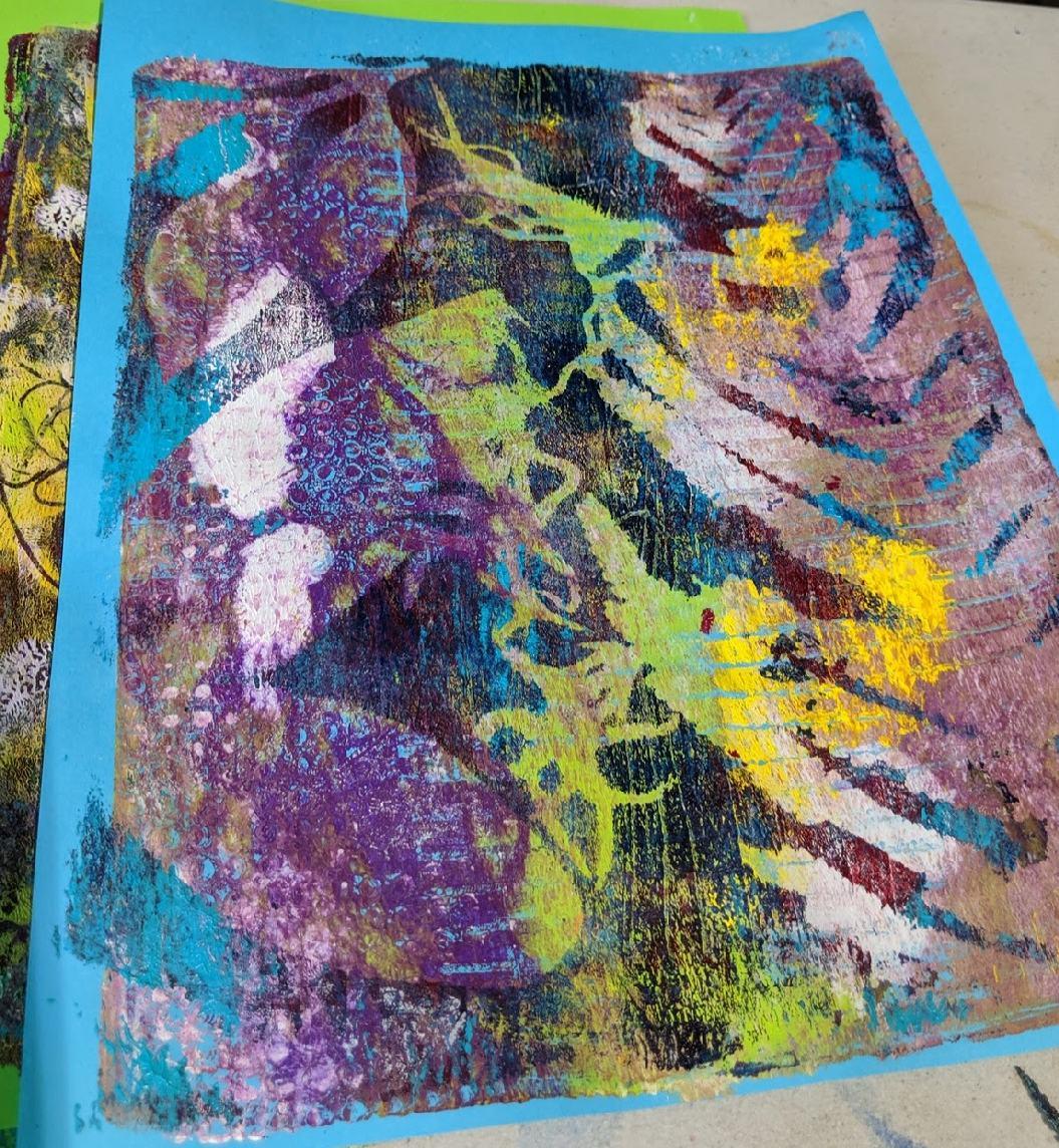 142: Nature Print/Gel Plate