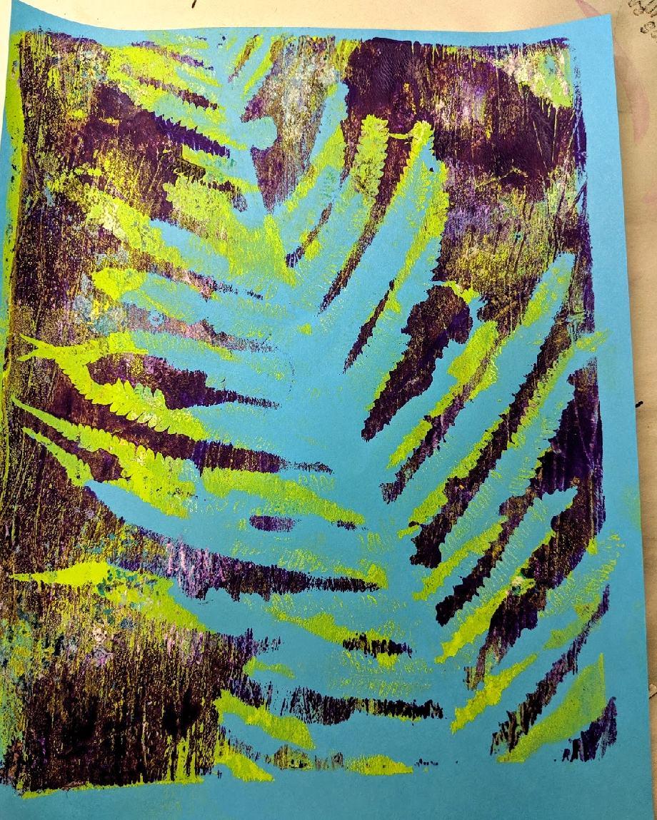 144: Nature Print/Gel Plate