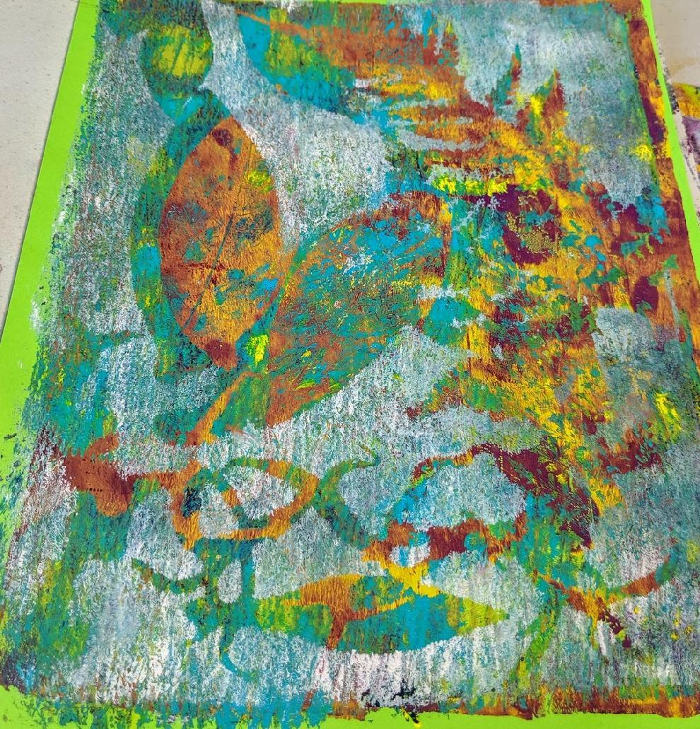 147: Nature Print/Gel Plate