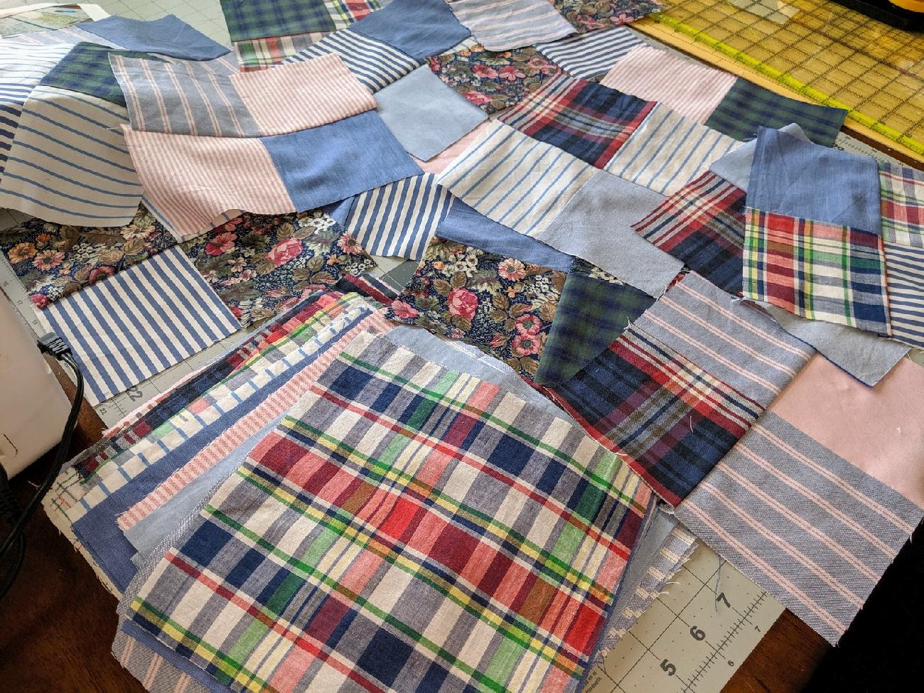 152: recycled quilt progress
