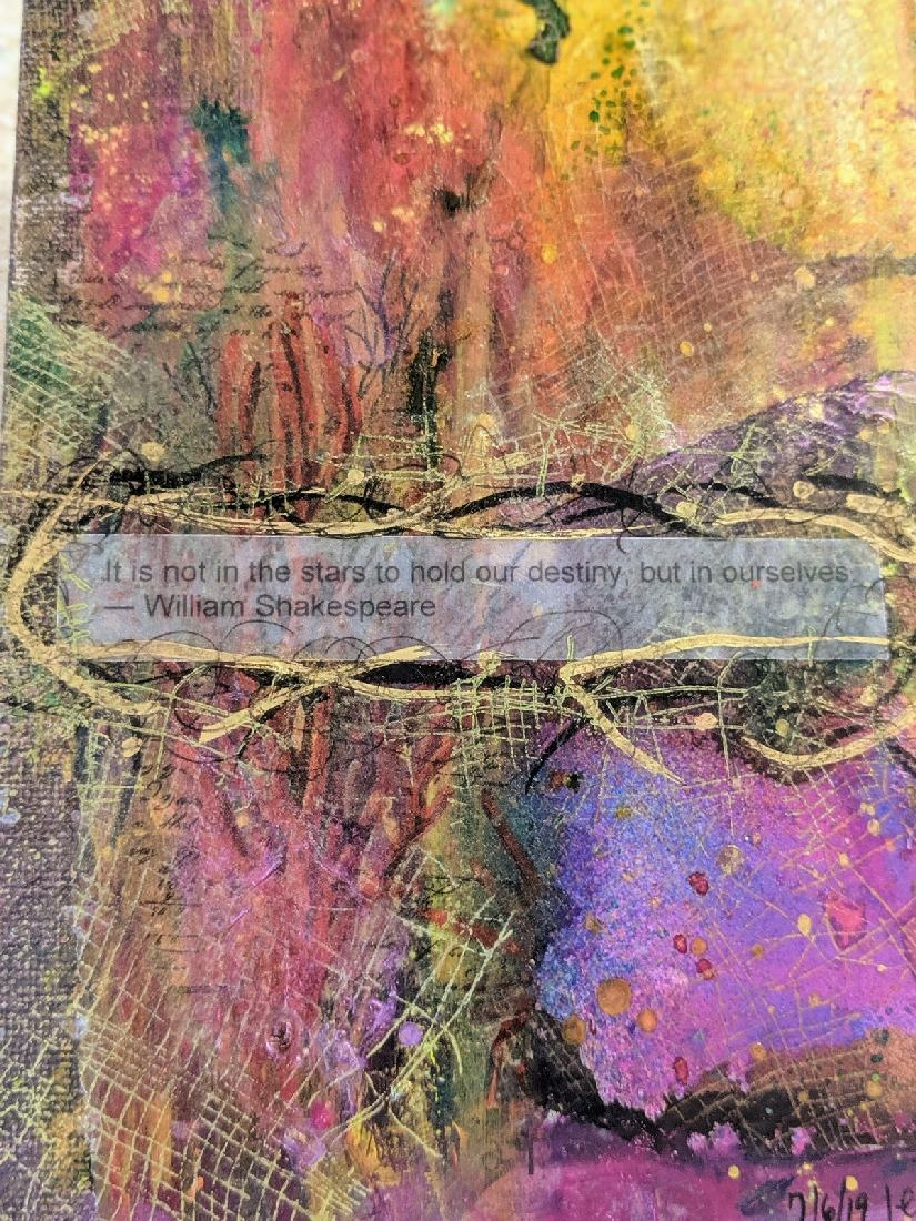 173: collage on canvas
