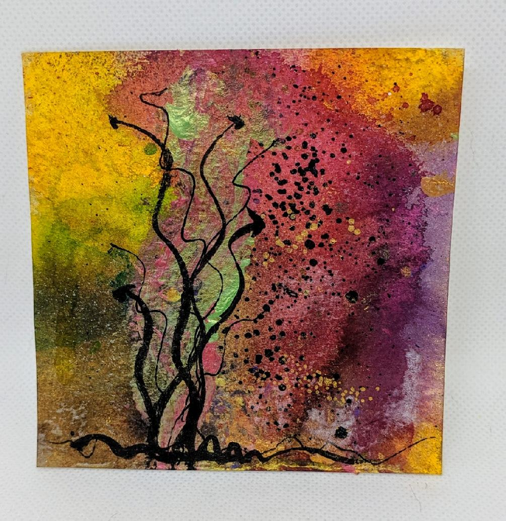 181: 4X4 watercolor squares