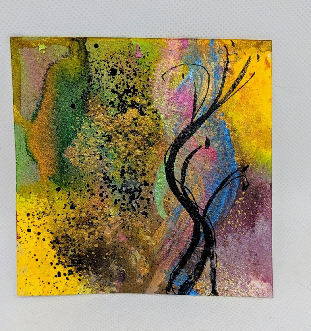 183: 4X4 watercolor squares