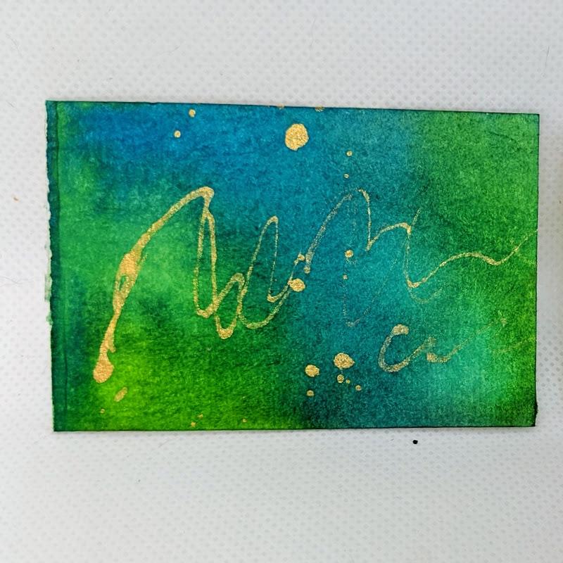 188: watercolor card & ink