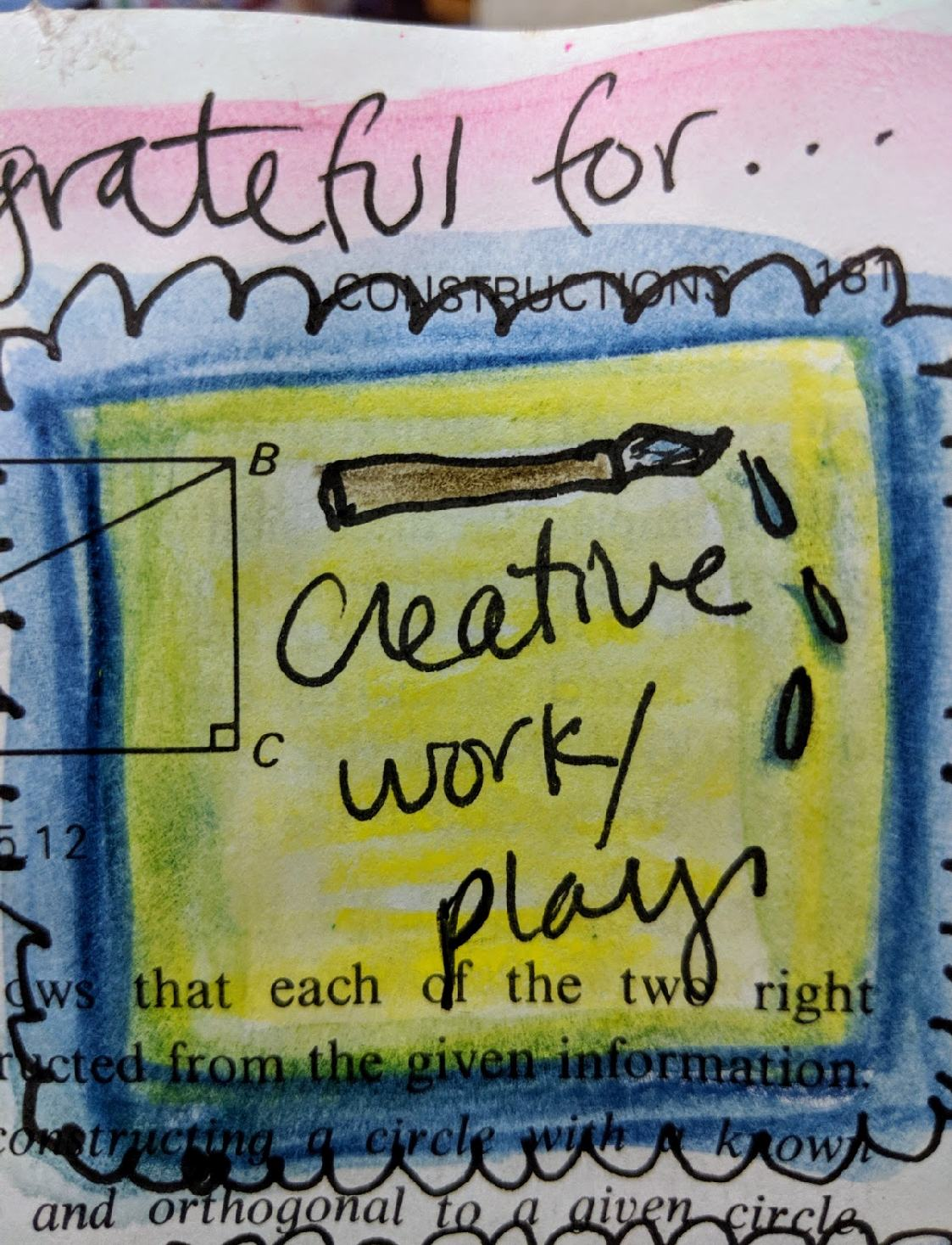 209: 100 steps Art Journaling day 3