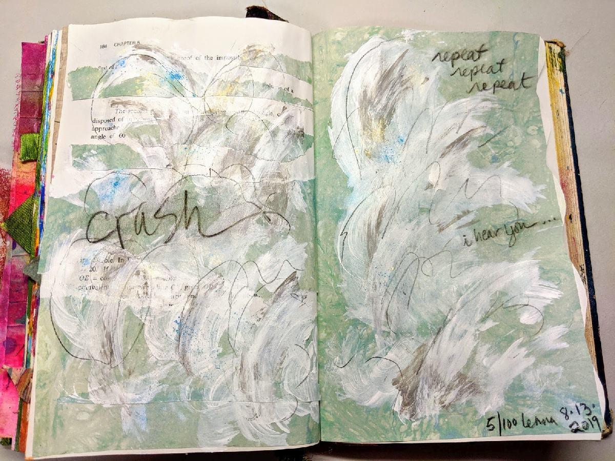 213: Day 5- 100 steps art journal